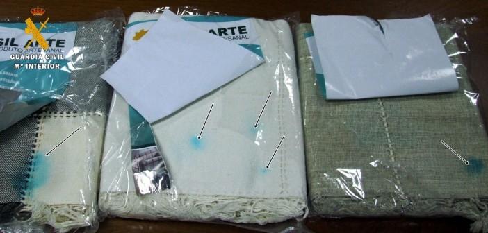Las mantas impregnadas con 6 kilos de cocaína