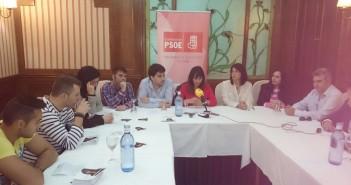 Integrantes del PSOE moralo