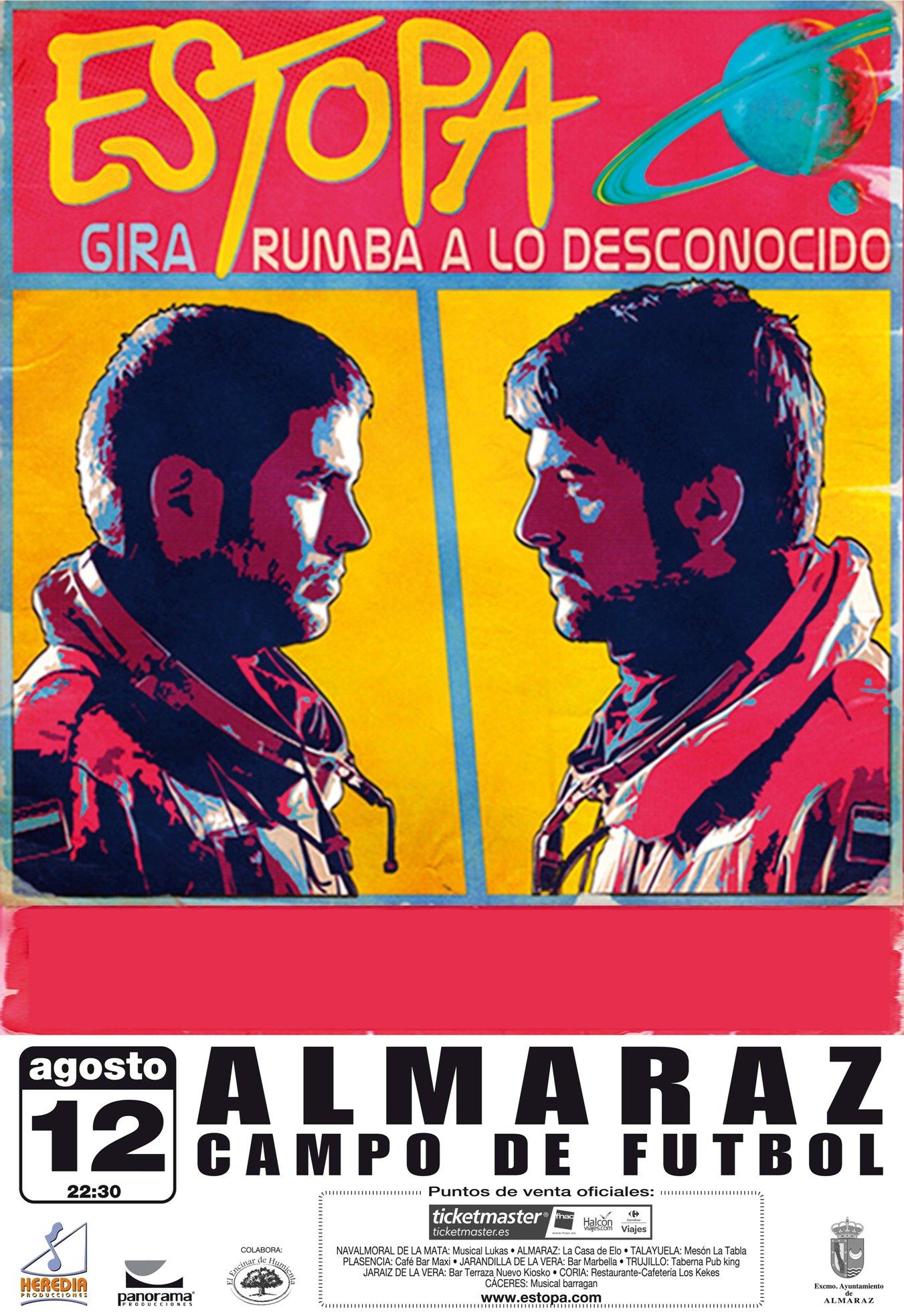 Estopa actuará en Almaraz en el marco de las Fiestas de San Roque ...