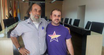 Paulino Luna y Héctor Izquierdo, anteriores dirigentes de IU Navalmoral.