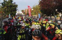 Salida de la marcha cicloturista de Monfragüe.