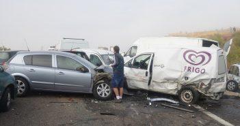Un muerto y 15 heridos tras colisionar 36 vehículos en Galisteo