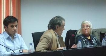 Ángela Miguel en un pleno