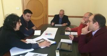 Técnicos de Ayuntamiento y Diputación reunidos