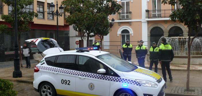 coche patrulla de la policía
