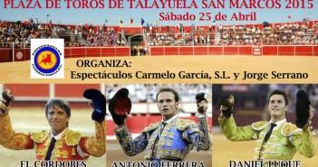 Cartel taurino San Marcos 2015 Talayuela