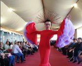 Desfile de la diseñadora morala Alba García en Olivenza