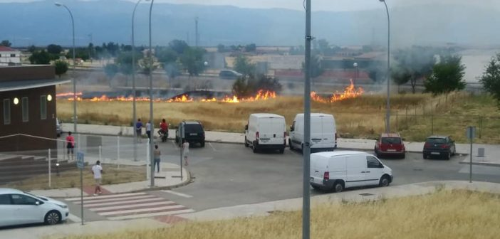 Incendio en el casco urbano de Navalmoral
